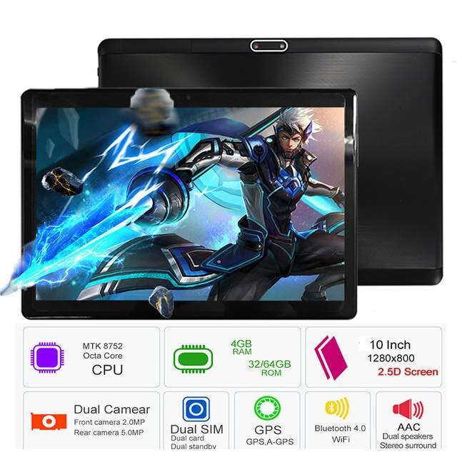 10.1 inch Dual Sim 4G Tablet with 8800 mAh Battery