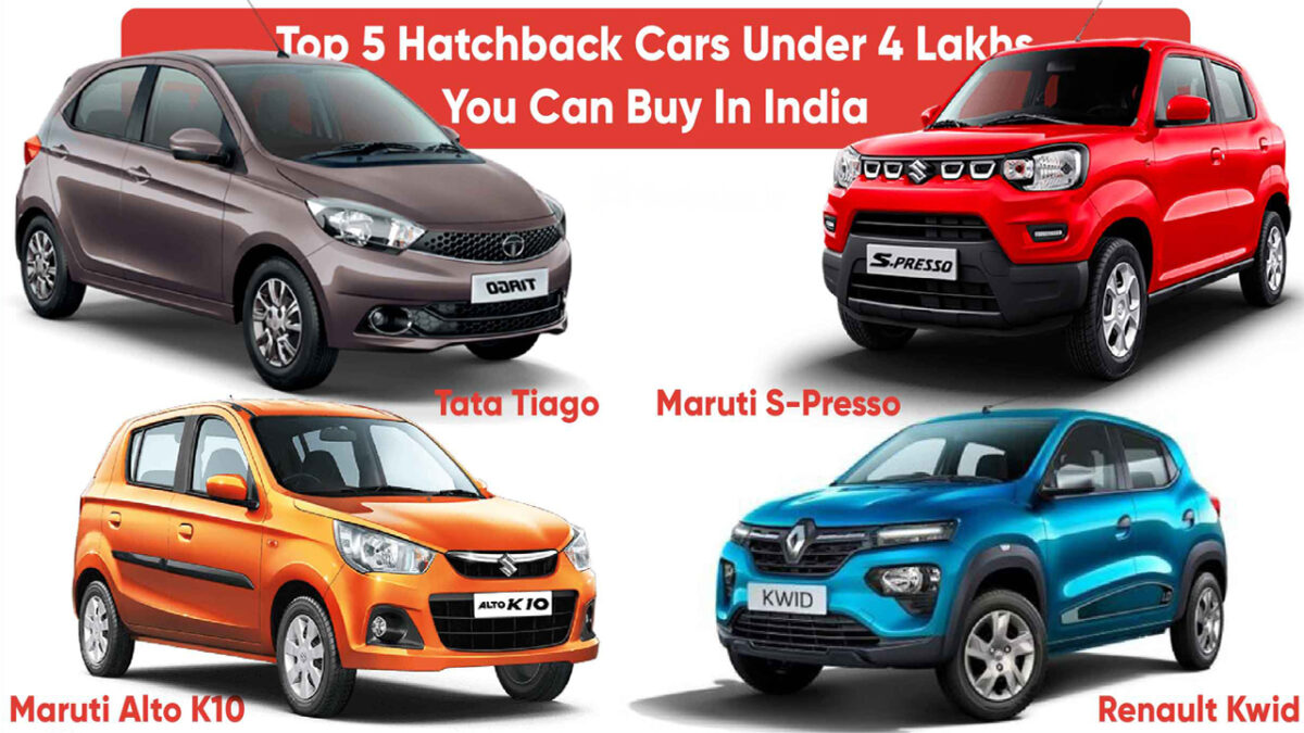 Top 5 Cars Under 4 Lakh Budget 2021